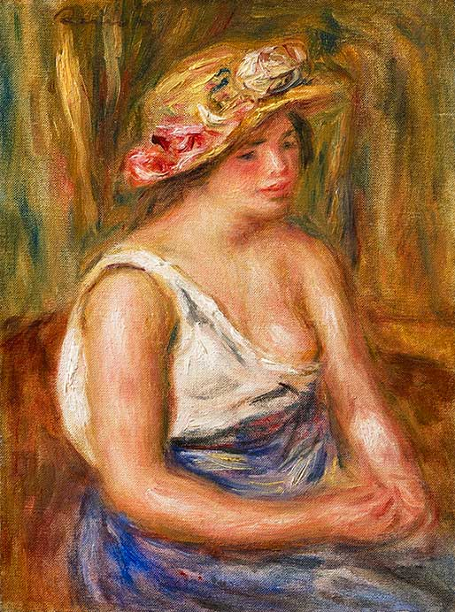 Auguste RENOIR Woman with a Straw Hat